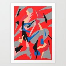 Redactive Art Print