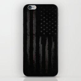 Black American flag iPhone Skin