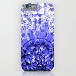 Morocco Oriental Flower Mosaic Gerber blue iPhone Case