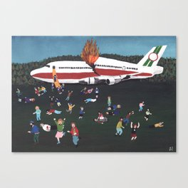 Airplane Crash Canvas Print