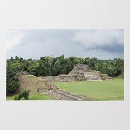 Altun Ha Mayan Ruins in the tropical jungle of Belize Rug
