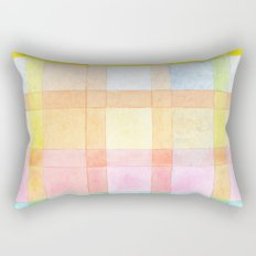 Pastel colored Watercolors Check Pattern Rectangular Pillow
