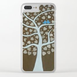 Wedding Guest Book Tree Clear iPhone Case