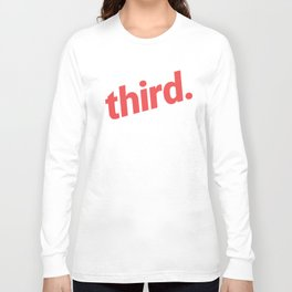 third. Large - Red Long Sleeve T-shirt