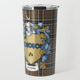 Thompson Crest and Tartan Travel Mug