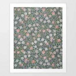 William Morris Clover Pattern Art Print