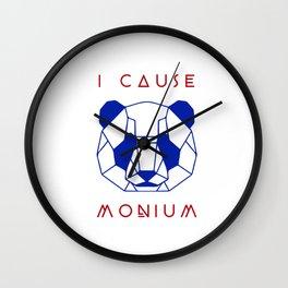 I Cause Panda-monium Wall Clock
