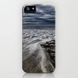 Storm Drama at Swami's Reef, Encinitas, California iPhone Case