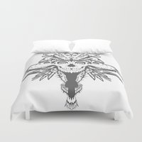 god Duvet Covers featuring GOD III by Mario Sayavedra