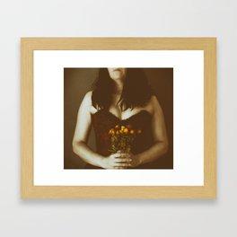 Sin flores para ti III Framed Art Print