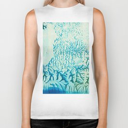 small fragment green and turquoise Biker Tank