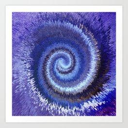 183 - Spiral City abstract design Art Print