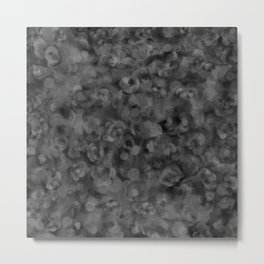 Dark Charcoal Gray and Light Grey Abstract Metal Print