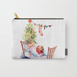 Simon and Chloe - Christmas Carry-All Pouch