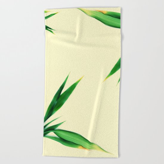 Bamboo leaves #1 #decor #art #society6 Beach Towel