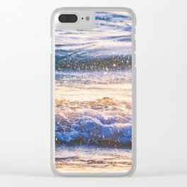 Atlantic Ocean Waves 4184 Clear iPhone Case