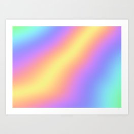 Colorful Gradient Abstract Rainbow Pattern Holographic Foil Art Print