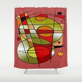 Abstract #48 Shower Curtain