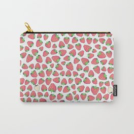 retro strawberry print Carry-All Pouch