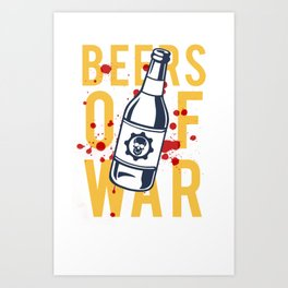 Beers of War Art Print