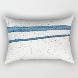 Parallel Universe [horizontal]: a pretty, minimal, abstract piece in lines of vibrant blue and white Rectangular Pillow