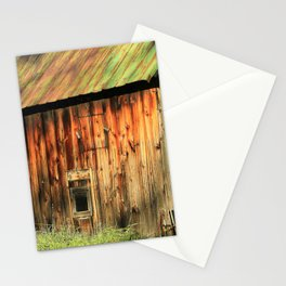 Sunrise on a weathered barn Stationery Cards