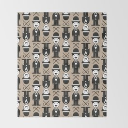 Charlie Chaplin Pattern Throw Blanket