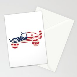 American Patriotic Off Road 4x4 Stationery Cards