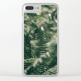 Ferns VIII Clear iPhone Case