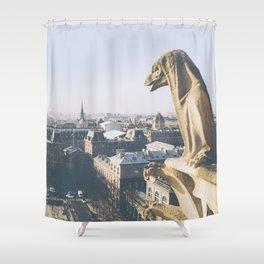Protecting Paris Shower Curtain