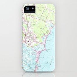Vintage Map of Hampton Beach NH (1957) iPhone Case