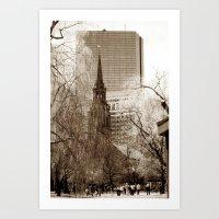 boston Art Prints featuring Boston by Raymond Earley