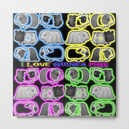 I love Guinea pigs Metal Print