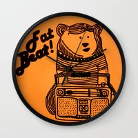 fat Wall Clocks featuring Fat Beat! by Alfredo Canales  //  Elmotín