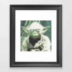 Yoda - StarWars - Pantone Swatch Art Framed Art Print