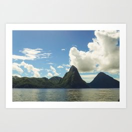 Majestic St. Lucia Pitons Art Print