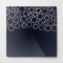 Circle Lines Metal Print