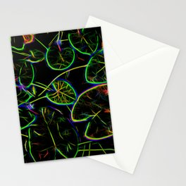 Lily Pads Fractal Stationery Cards