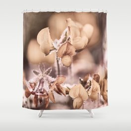 Wildflowers in pastel and camel tones Shower Curtain