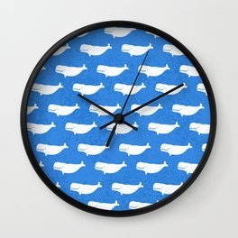 blue belugas Wall Clock