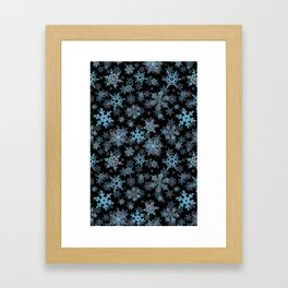 """Embroidered"" Snowflakes Framed Art Print"