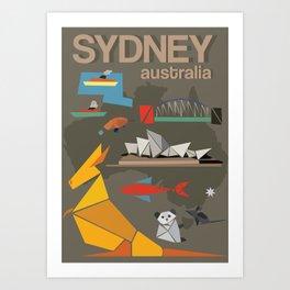 Sydney Australia Poster Version II Art Print
