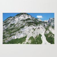 italian Area & Throw Rugs featuring Italian alps by Carlo Toffolo