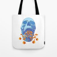psychology Tote Bags featuring Reverse Psychology  by Rhysher Park