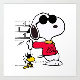 Joe Cool Snoopy Art Print