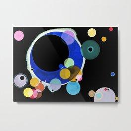Kandinsky Several Circles, 1926 Artwork Reproduction, Design for Posters, Prints, Tshirts, Men, Women, Kids, Youth Metal Print