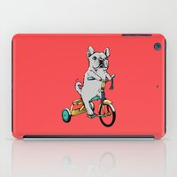 frenchie iPad Cases featuring Frenchie Ride by Huebucket