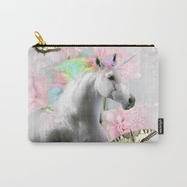 Unicorn Face, Butterfly Flower, Butterflies and Flowers Carry-All Pouch