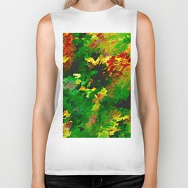 Emerald Forms Abstract Biker Tank