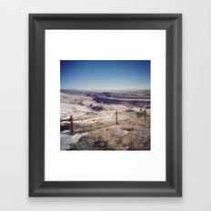 Red Canyon, Wyoming Landscape Photograph Framed Art Print